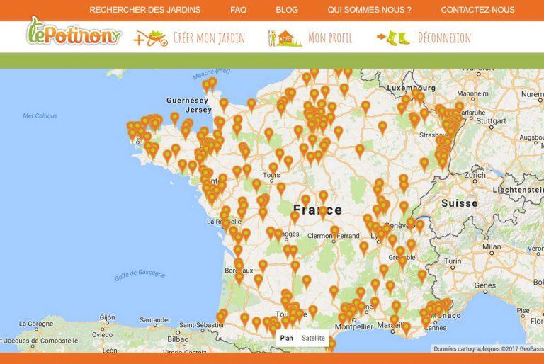 Trouvez, vendez vos fruits et légumes avec lePotiron.fr